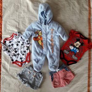0-3M Disney Baby Boy's Clothes